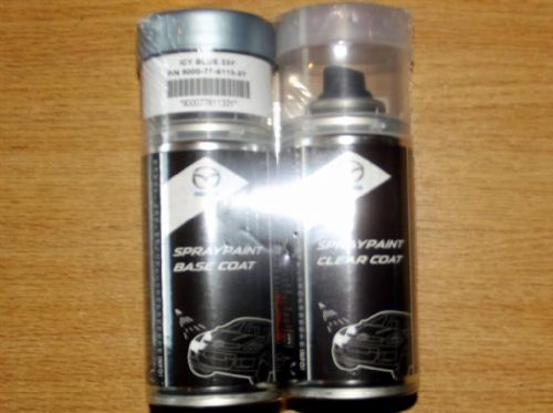 Paint spray kit, genuine Mazda, 33Y, Icy Blue